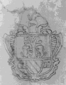 Lo stemma dei Delitala-Pes nella chiesa parrocchiale di Nulvi (Foto di Gianfranco Serafino, Tempio)
