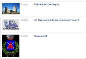 Gruppi Chiaramonti su Facebook
